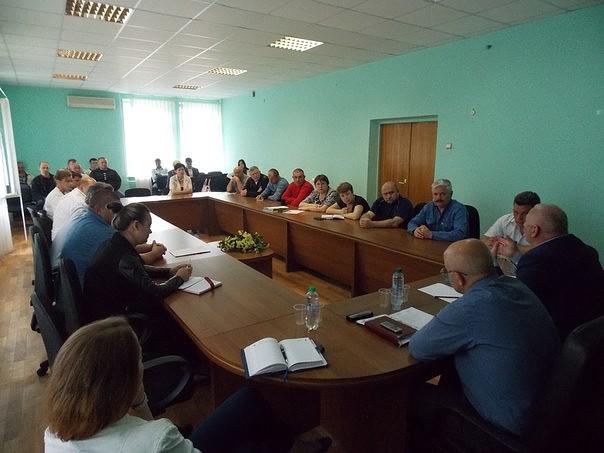 Совещание в оккупированном Новоазовске