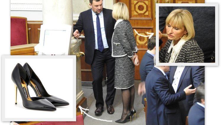 Нардеп Ирина Луценко ходит на работу в туфлях стоимостью 19 600 гривен