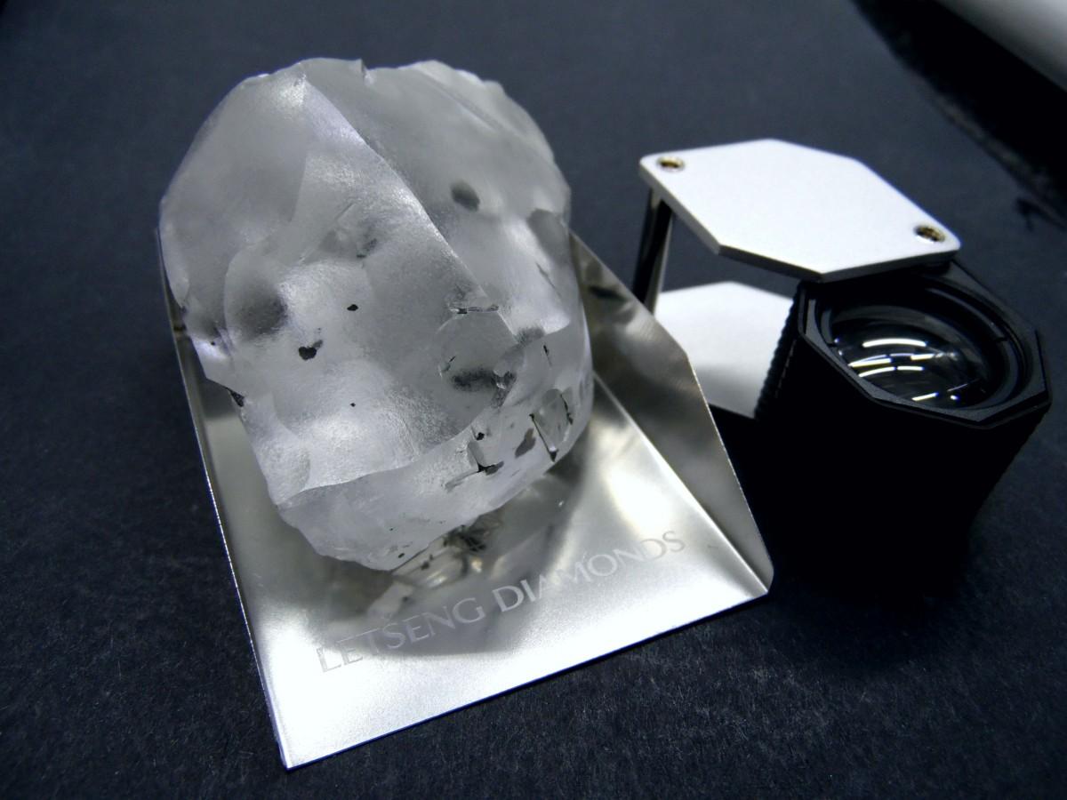 Найден один изкрупных алмазов вистории