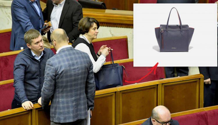 Нардеп Южанина ходит в Раду с сумкой Salvatore Ferragamo за $1490