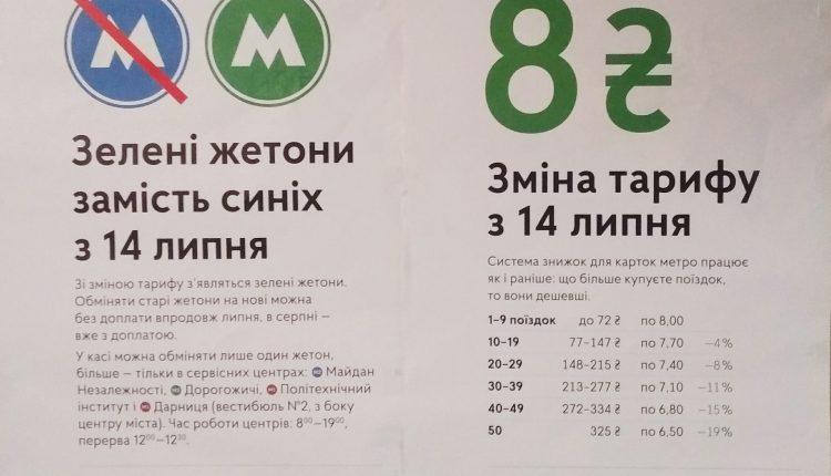 В киевском метро вновь появятся зеленые жетоны