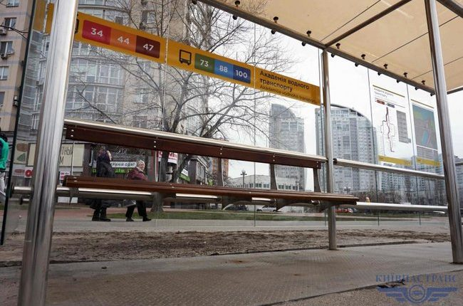 В Киеве заменят тысячу остановок транспорта