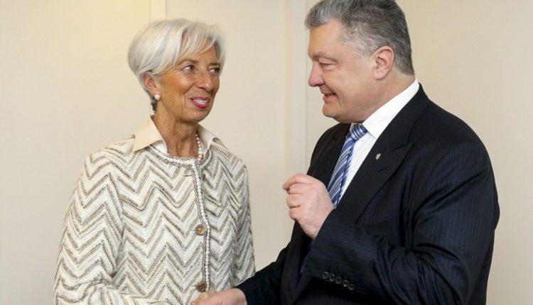 Лагард и Порошенко провели встречу в Давосе