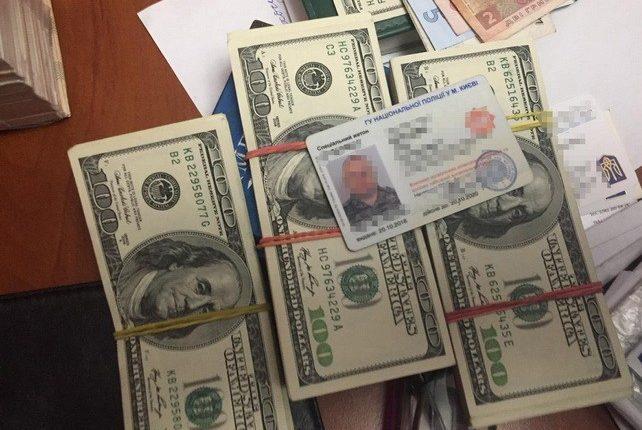 В Киеве СБУ задержала начальника отдела Нацполиции, вымогавшего у бизнесмена $34 тысячи