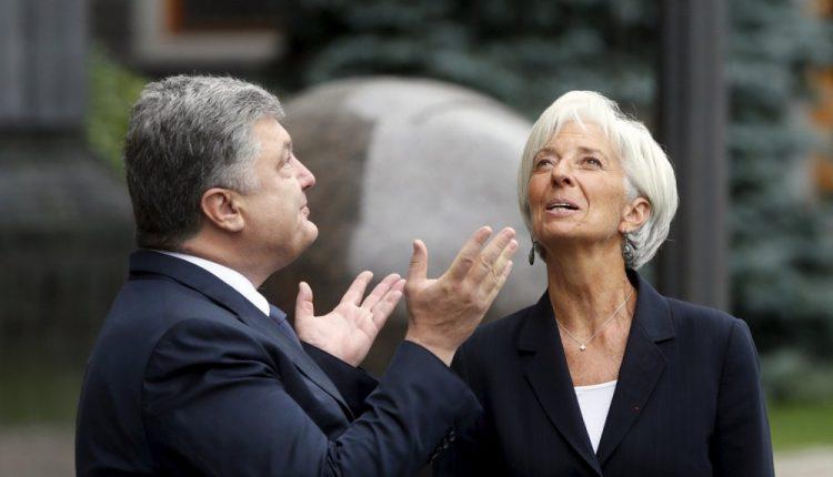 Порошенко и Лагард обсудили денационализацию Приватбанка