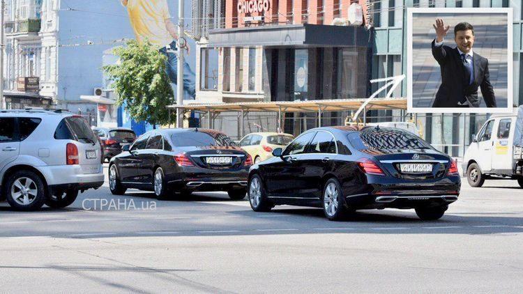 """За два черных """"мерса"""" из кортежа президента Зеленского заплатили $1,5 млн"""