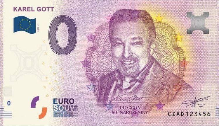 В Чехии центробанк выпустил банкноту в €0, посвященную Карелу Готту