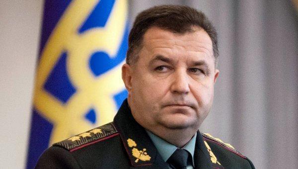 Министр обороны Степан Полторак заработал 95 тысяч гривен в июле
