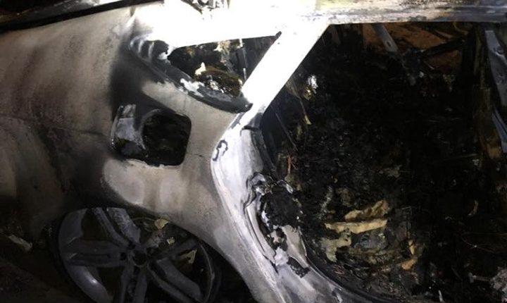 В центре Киева сожгли машину невестки Гонтаревой
